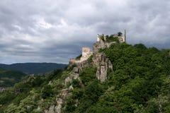 Castillo Dürenstein en Wachau,   Imagen de archivo