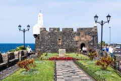 Castillo de圣米格尔在Garachico 免版税库存照片
