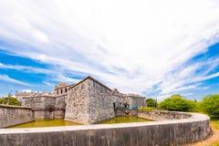 Castillo de Λα Real Fuerza, Αβάνα, Κούβα Διάστημα αντιγράφων για το κείμενο Στοκ Φωτογραφίες