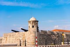 Castillo de Σαν Σαλβαδόρ de Λα Punta, Αβάνα, Κούβα Διάστημα αντιγράφων για το κείμενο Στοκ φωτογραφίες με δικαίωμα ελεύθερης χρήσης