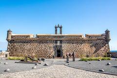 Castillo de Сан-Хосе, замок Сан-Хосе, Arrecife, Лансароте, Испании стоковые изображения rf