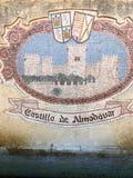 Castillo de Almodà ³ var, CÃ-³rdoba, Spanien Royaltyfri Fotografi