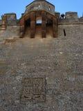 Castillo de Almodà ³ var del RÃo - rockera i Almodà ³ var del RÃo, Spanien Royaltyfria Bilder