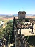 Castillo de Almodà ³ var del RÃo - rockera i Almodà ³ var del RÃo, Spanien Arkivbilder