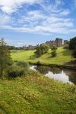 Castillo de Alnwick, Northumberland. Fotos de archivo libres de regalías