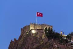 Castillo de Ankara - noche Foto de archivo