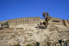 Castillo de Arbil en el Kurdistan fotos de archivo libres de regalías