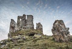 Castillo de Ardvreck en el lago Assynt Fotografía de archivo libre de regalías
