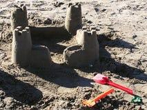 Castillo de arena fotos de archivo