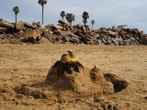 Castillo de arena del niño Foto de archivo libre de regalías