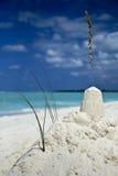 Castillo de arena soñador fotografía de archivo