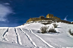 Castillo De Argueso nevado Zdjęcia Stock