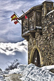 Castillo De Argueso nevado Obrazy Royalty Free