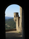 Castillo de Aubenas, Ardeche, Provence, Francia Imagen de archivo libre de regalías