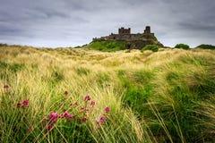 Castillo de Bamburgh en la costa de Northumberland foto de archivo
