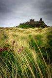 Castillo de Bamburgh en la costa de Northumberland fotografía de archivo