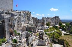 Castillo de Baux en Francia Foto de archivo libre de regalías