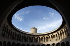 Castillo 002 de Bellver Imágenes de archivo libres de regalías