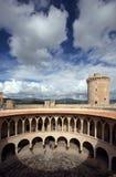 Castillo de Bellver en Majorca Imágenes de archivo libres de regalías