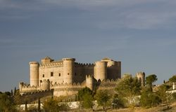 Castillo de Belmonte from Far Royalty Free Stock Photography