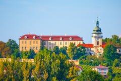 Castillo de Benatky nad Jizerou en Bohemia central, República Checa Imágenes de archivo libres de regalías
