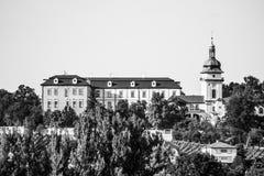 Castillo de Benatky nad Jizerou en Bohemia central, República Checa Foto de archivo