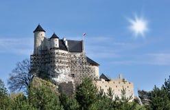 Castillo de Bobolice Fotografía de archivo libre de regalías