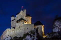 Castillo de Bobolice Imagen de archivo libre de regalías