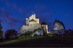 Castillo de Bobolice Foto de archivo