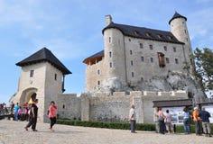 Castillo de Bobolice, Polonia Imagen de archivo