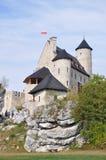 Castillo de Bobolice, Polonia Foto de archivo