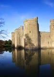 Castillo de Bodiam - retrato Imágenes de archivo libres de regalías