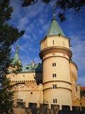 Castillo de BOJNICE - es uno de los castillos visitados de Eslovaquia imagen de archivo libre de regalías