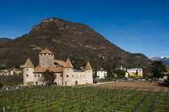 Castillo de Bolzano, Italia fotografía de archivo