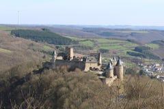 Castillo de Bourscheid Imágenes de archivo libres de regalías