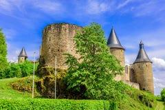 Castillo de Bourscheid, Luxemburgo Imágenes de archivo libres de regalías