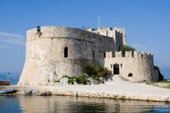 Castillo de Bourtzi en el nafplion Grecia Fotografía de archivo
