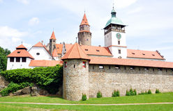 Castillo de Bouzov, República Checa, Europa imagen de archivo