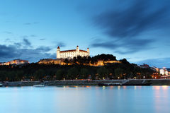 Castillo de Bratislava Imágenes de archivo libres de regalías