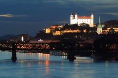 Castillo de Bratislava Fotografía de archivo