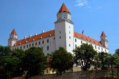 Castillo de Bratislava en Eslovaquia Imágenes de archivo libres de regalías