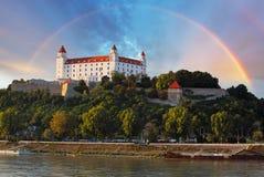 Castillo de Bratislava, Eslovaquia Foto de archivo libre de regalías