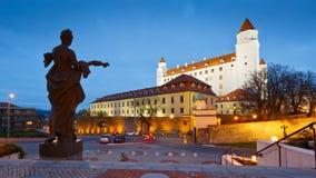 Castillo de Bratislava, Eslovaquia Imagen de archivo libre de regalías