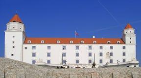 Castillo de Bratislva en la capital eslovaca Foto de archivo libre de regalías