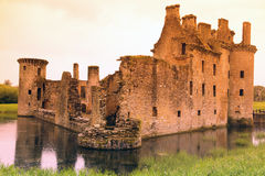 Castillo de Caerlaverock, Reino Unido Imagenes de archivo