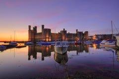 Castillo de Caernarfon Imagen de archivo libre de regalías