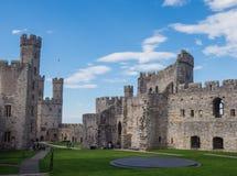Castillo de Caernarfon, País de Gales del norte Foto de archivo