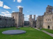 Castillo de Caernarfon, País de Gales del norte Fotos de archivo libres de regalías