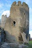 Castillo de Caerphilly, País de Gales fotografía de archivo