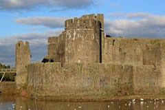 Castillo de Caerphilly, País de Gales imagen de archivo libre de regalías